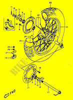 REAR WHEEL  DR350 V/W/X Motorcycle Suzuki microfiche diagram