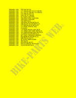 * COLOR CHART *  DR200SEL1(E28) L1 2011 Motorcycle Suzuki microfiche diagram
