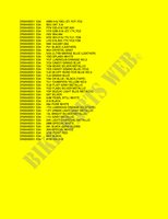 * COLOR CHART * for Suzuki DR 200 2004