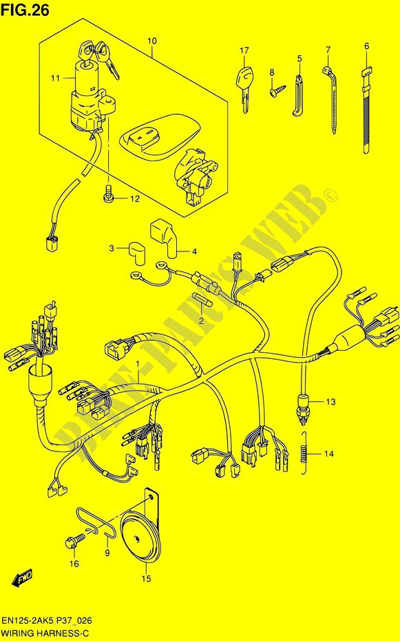 Wiring Harness For Suzuki En 125 2005   Suzuki Motorcycles