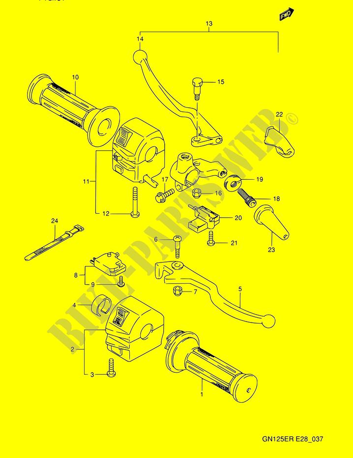 Switches For Suzuki Gn 125 1993   Suzuki Motorcycles
