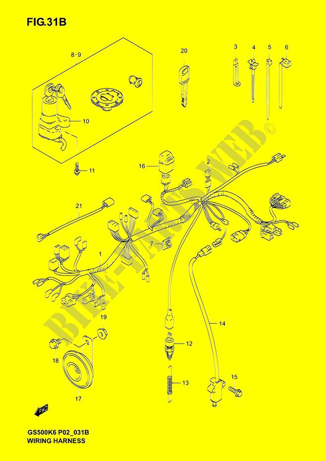 Wiring Harness  Gs500fk4  K5  K6  Fuk4  Fuk5  Fuk6  For Suzuki