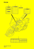 LABEL (MODEL K8) for Suzuki BANDIT 1250 2008