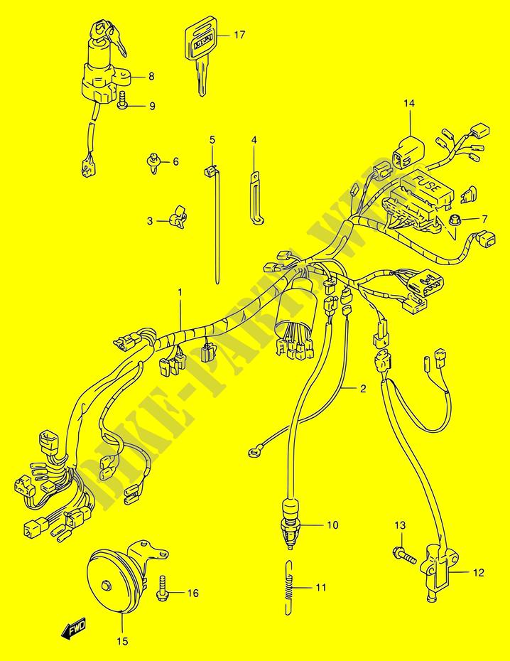 suzuki bandit fuse box location wiring harness for suzuki bandit 400 1997 suzuki motorcycles  wiring harness for suzuki bandit 400