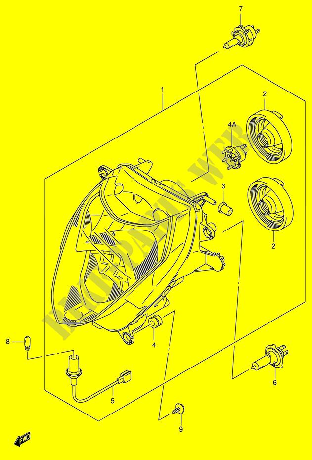 head lamp electrical gsx r1000 k3 e02e19e24e37 2003 gsx r 1000 moto GSX-R1000 2012 suzuki moto 1000 gsx r 2003 gsx r1000 k3 (e02,e19,
