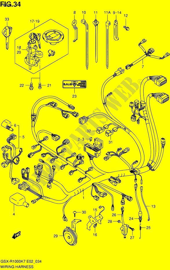 WIRING HARNESS for Suzuki 1000 GSX-R 2008 # SUZUKI MOTORCYCLES ... on gsxr 1100 wiring diagram, gsxr 1000 engine diagram, ninja 1000 wiring diagram, gsxr 1000 piston, gsxr 1000 oil pump, gsxr 1000 owner manual, gsxr 1000 automatic transmission, gsxr 1000 headlight, gsxr 1000 transformer, gsxr 1000 frame, gsxr 600 wiring diagram, fzr 1000 wiring diagram, tl 1000 r wiring diagram, gsxr 1000 ecu, gsxr 1000 exhaust, gsxr 1000 motor, gsxr 1000 wheels, gsxr 1000 clutch, gsxr 1000 battery, gsxr 1000 parts,