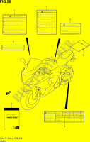 LABEL  GSX-R1000L3(E99) Motorcycle Suzuki microfiche diagram