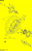 REAR WHEEL  GSX-R1000L4(E24) Motorcycle Suzuki microfiche diagram