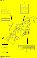 LABEL  GSX-R1000ZL4(E99) Motorcycle Suzuki microfiche diagram