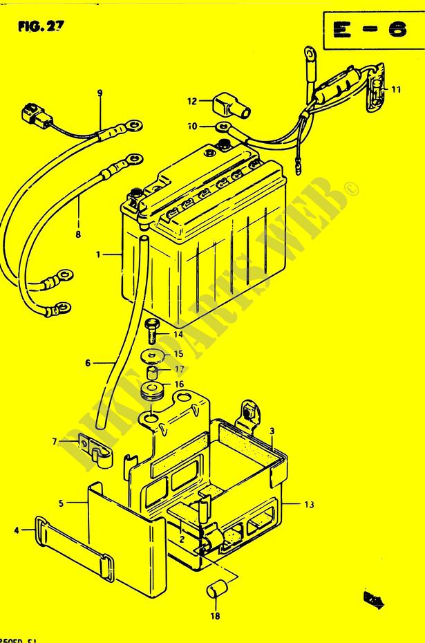 battery electrical gsx250 z gsx250e z gsx250s z gsx250es z 1982 gsx
