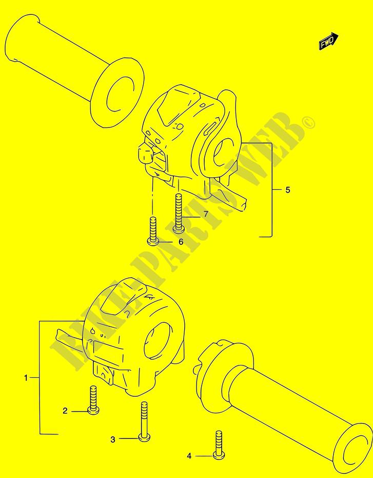SWITCHES for Suzuki 2002 # SUZUKI MOTORCYCLES - Genuine Spare Parts on
