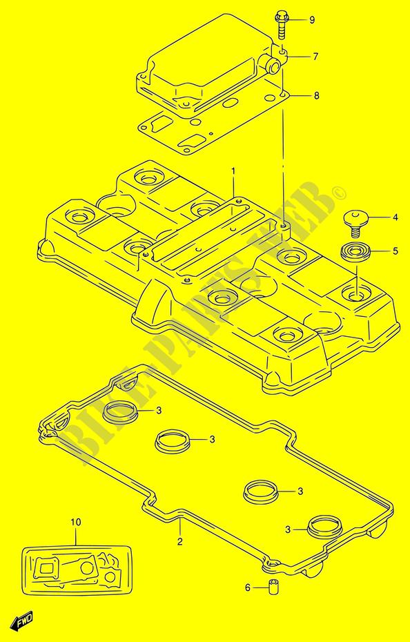 CYLINDER HEAD COVER ENGINE TRANSMISSION RF900R T ...
