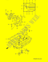 OIL PAN - OIL PUMP  RF900RV E28 Motorcycle Suzuki microfiche diagram