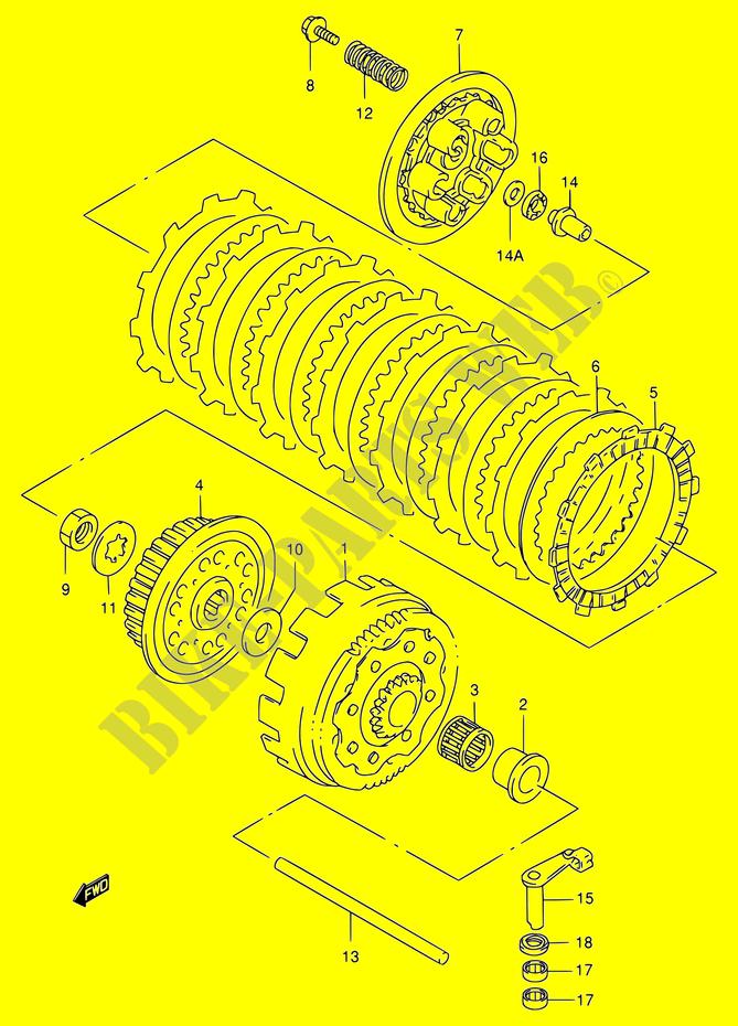 clutch engine transmission rm250 y e03e28e33 2000 rm 250 moto suzuki