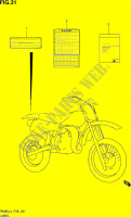 LABEL (RM85LL4 P28) for Suzuki RM 85 2014