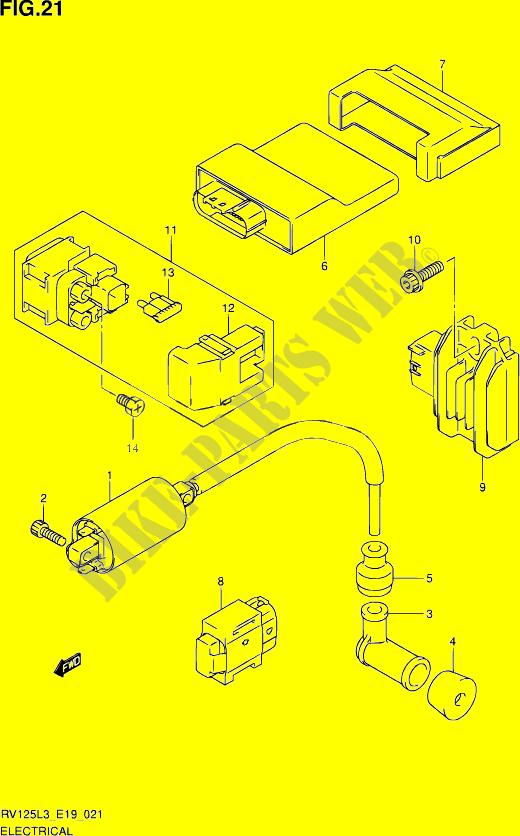 Peachy Elctrical Electrical Rv125 L3 E02 2013 Van Van 125 Moto Suzuki Wiring Database Denligelartorg